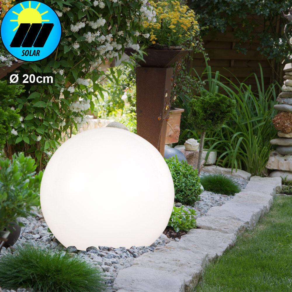 LED Solar Kugel Garten Steh Stand Steck Leuchte Außen Beleuchtung Outdoor Lampe