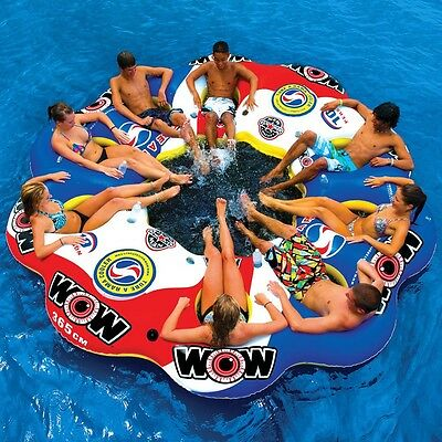 Tube A Rama 10 Persons island tube inflatable towable lounge water-ski 13-2060