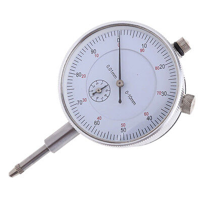 Dial Indicator Gauge 0-10mm Meter Precise 0.01 Resolution Concentricity Test Dt