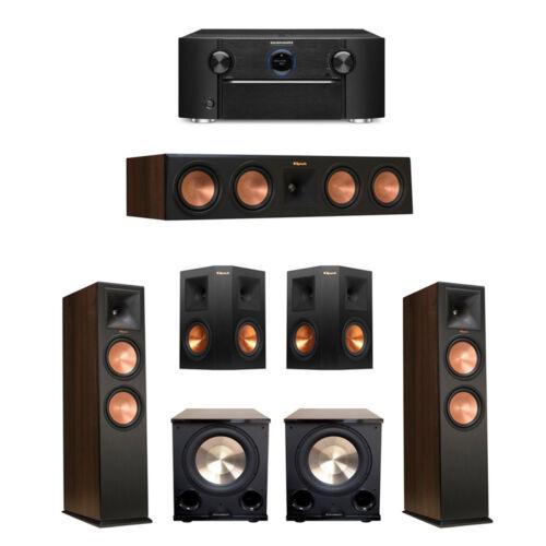 Klipsch 5.2 Walnut System With 2 Rp-280f Tower Speakers Brand New  Full Warranty