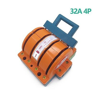 Heavy Duty 32a Four Poles Double Throw Knife Disconnect Switch