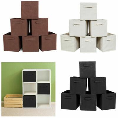 6 Pack Storage Cube Basket Fabric Drawers Best Cubby Organiz