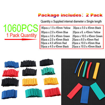 Lot 1060pcs Heat Shrink Tubing 21 Insulation Shrinkable Tube Wire Cable Sleeve