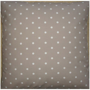 NEW-Large-24-Floor-Cushion-Cover-Taupe-Mushroom-Brown-White-Polka-Dots-Spots