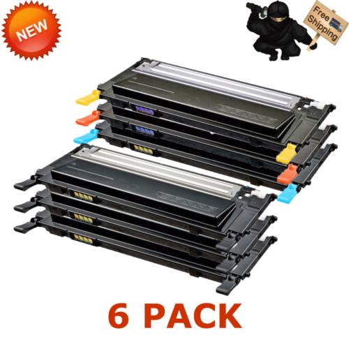 6 Pack Clt-k409s Color And Black Toner For Samsung Clp-31...