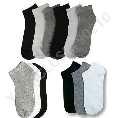 Men Women 9-11 10-13 Sports Socks Crew Ankle Socks Low Cut Socks Lot 3-6-12P