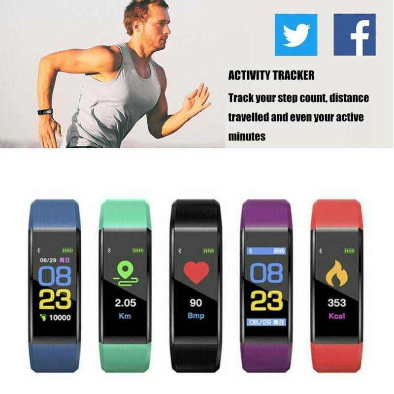 Smart Band Watch Bracelet Wristband Fitness Tracker Fit For