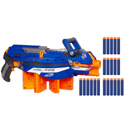 Nerf N-Strike Elite Hail-Fire Blaster, Kids Indoor/Outdoor Blaster Gun Toy