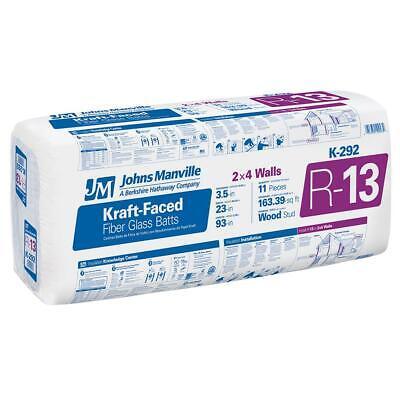 Johns Manville R13 23 By 93 Faced Fiberglass Batt 10 Bags Total Sqft 1633.9
