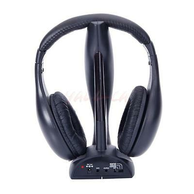8in1 Wireless Headphone Headset for FM Radio Mp3 Mp4 TV DVD PC VCD Computer US