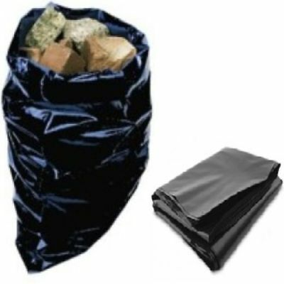100 Strong Plastic Builders Rubble Sacks Bags Size 20x30