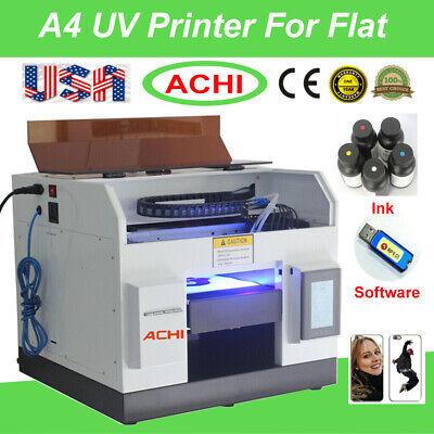 A4 Uv Printer Epson L800 Printer Head For Flat Metal Phone Case Glass Sign Us