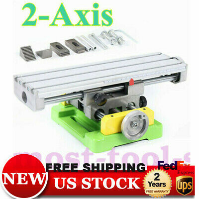 Multifunction Mini Precision Milling Machine Bench Drill Vise Worktable X Y-axis