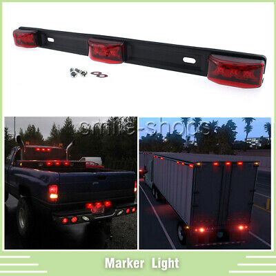 Red Clearance Trailer ID Light Side Marker Light 9 LED Indicator Surface Mount ()
