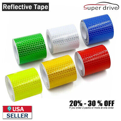 3.3 10 Car Truck Reflective Safety Warning Conspicuity Tape Film Sticker