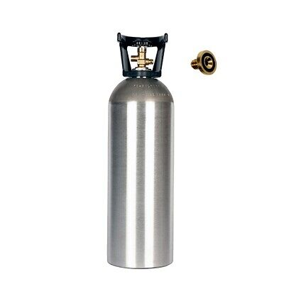 20 Lb New Aluminum Co2 Tank With Handle - Cga320 - Leak Stopper Free Shipping