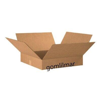 10 Flat Corrugated Boxes 20 X 20 X 4 Cardboard Shipping Box Moving Cartons