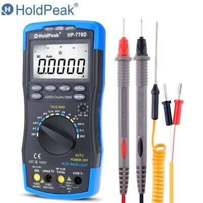 Digital Multimeter Auto Range 40000 Counts Dmm Bargraph Continuity Tester Meter
