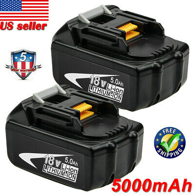 2x New For Makita BL1850 18V 5.0Ah Lithium Ion Battery BL1850-2 BL BL1840 -