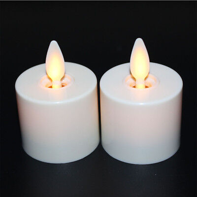 Luminara Moving Wick Flameless Battery Tea lights Candle lamps/Timer/Remote 2pc - Flameless Lamps