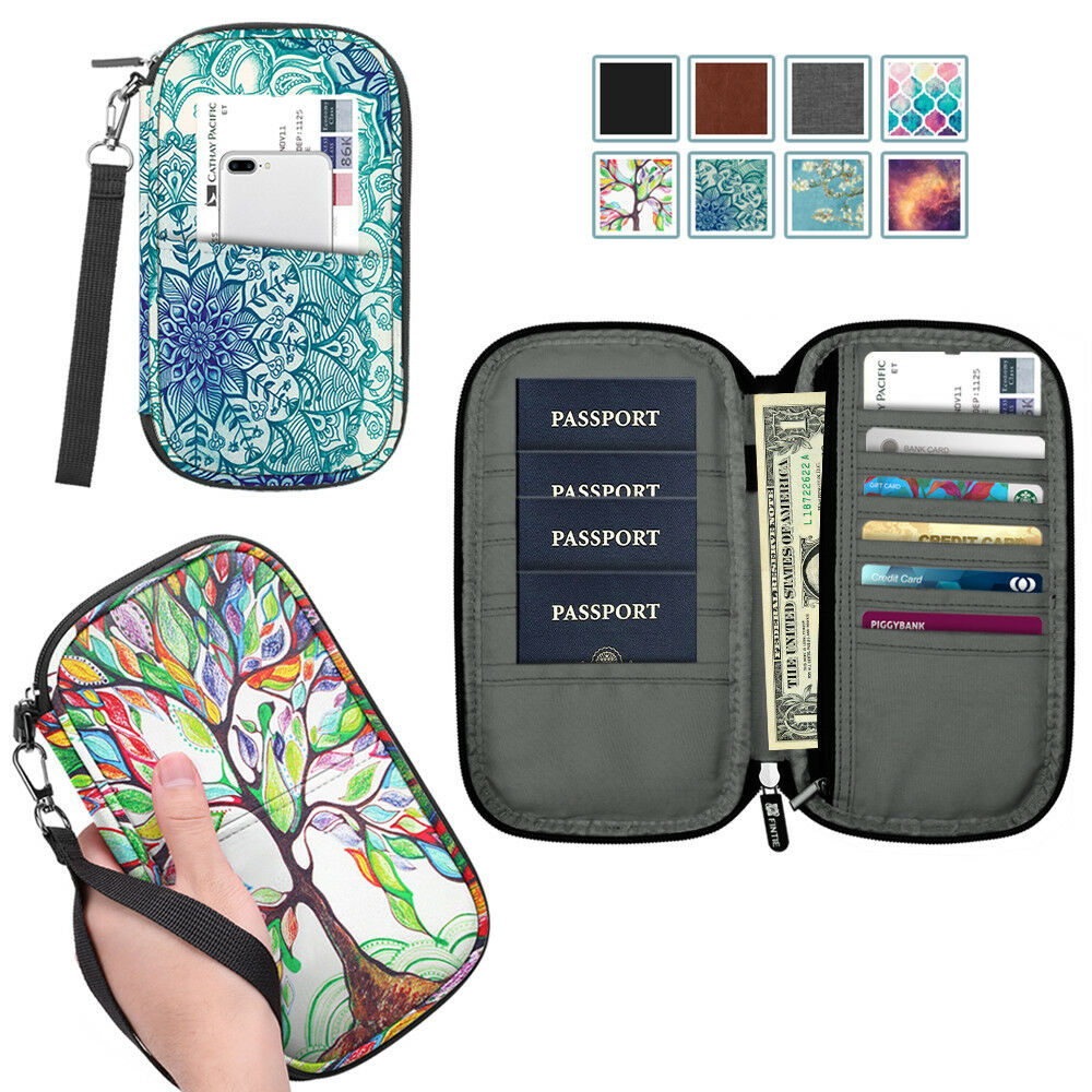 Family Travel Wallet Passport Holder RFID Blocking Document