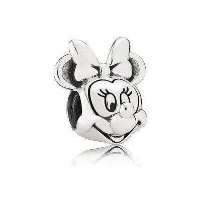 Authentic Pandora Charm  Sterling Silver Minnie Portrait Disney Bead 791587
