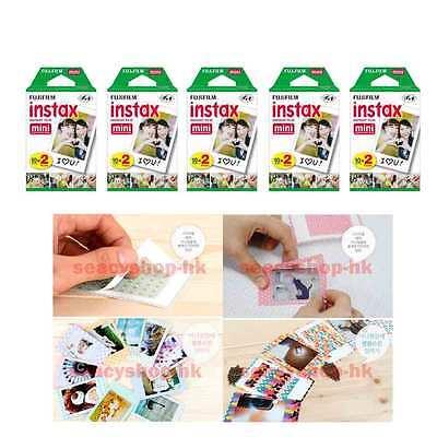 100 Pcs 10 Pack Fujifilm Instax Mini Film 90 8 25 7S 50s 55i SP-1 Instant Camera