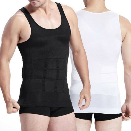 US Men Vest Slimming Body Shaper Belly Fatty Underwear Shirt Corset Compression Clothing, Shoes & Accessories