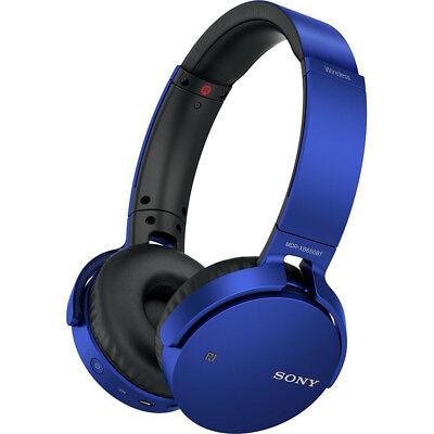 Sony MDR-XB650BT Wireless Bluetooth Headphones w/ Extra Bass - Blue