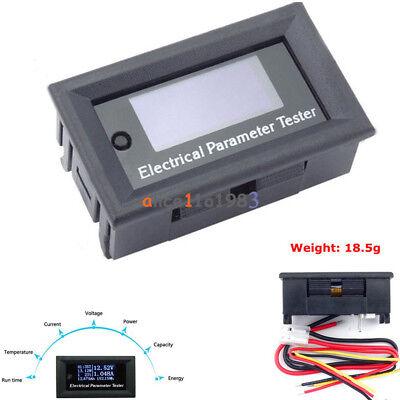 100v10a Oled Tester Voltage Current Time Temperature Capacity Voltmeter Ammeter
