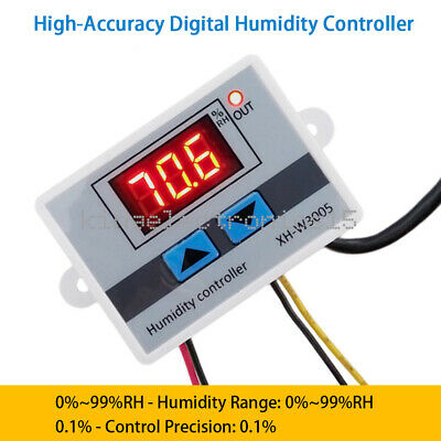 W3005 Dc 12v 120w Led Digital Humidity Controller Hygrometer Switch Sensor New