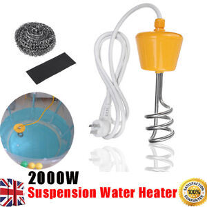 Travel Heater Immersion Water Heater Solar Energy Heating Element Pool Tub 2000