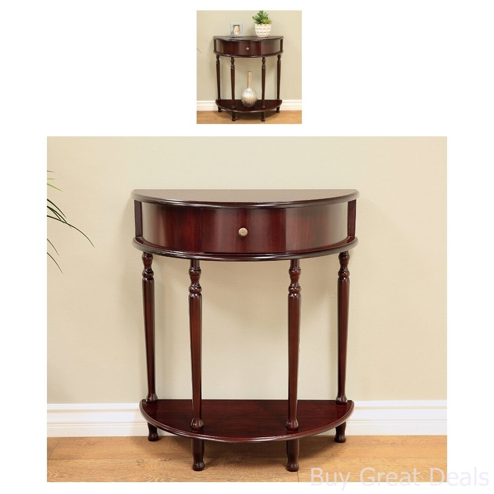 Details About Entryway Half Moon Console Tables Accent Living Room Furniture Hall Home Decor