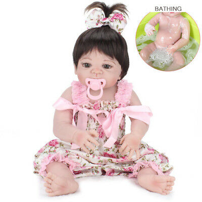"22"" Lifelike Reborn Baby Doll Handmade Silicone Full Body Vinyl Newborn Dolls"