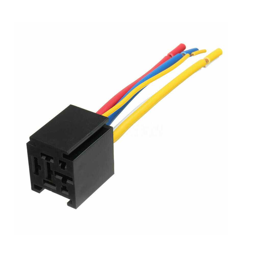 12v 80a Amp 5 Pin Spdt Automotive Wire Relay Socket