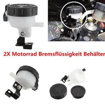 2X Motorrad Bremsflüssigkeitsbehälter Master Cylinder Brake Fluid  Reservoir DHL