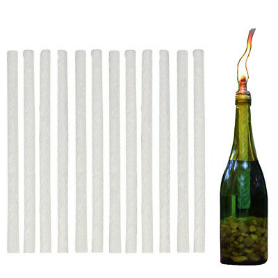 12PACK Tiki Torch Wick Outdoor Wine Bottle Light Fiberglass Wicks Torch