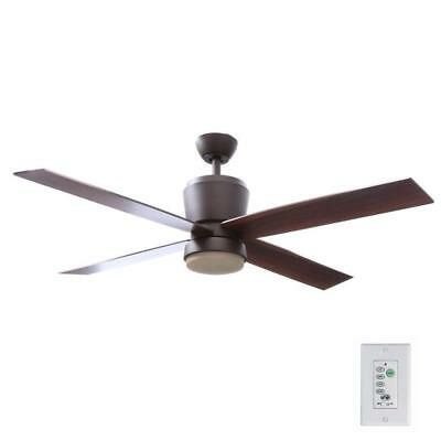 Hampton Bay Trusseau 52 in. Indoor Oil Rubbed Bronze Ceiling Fan with Light Kit