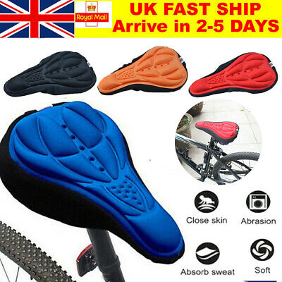 Bike Comfort Soft Gel Pad Comfy Cushion Saddle Seat Cover Bicycle Cycle UK SV