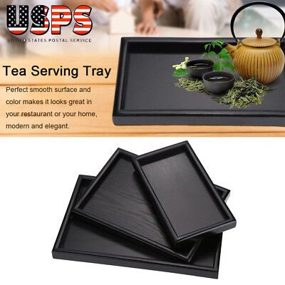Wooden Serving Tray Food Tea Table Coffee Plate Gadget Rectangle 3 Size US