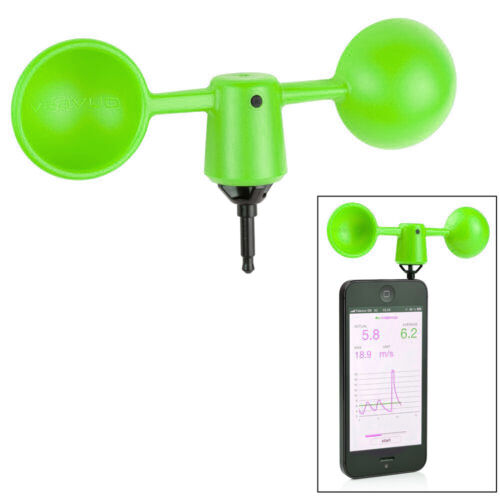VAV-1G Vaavud Smartphone Wind Meter Anemometer with Free Smartphone App - Green