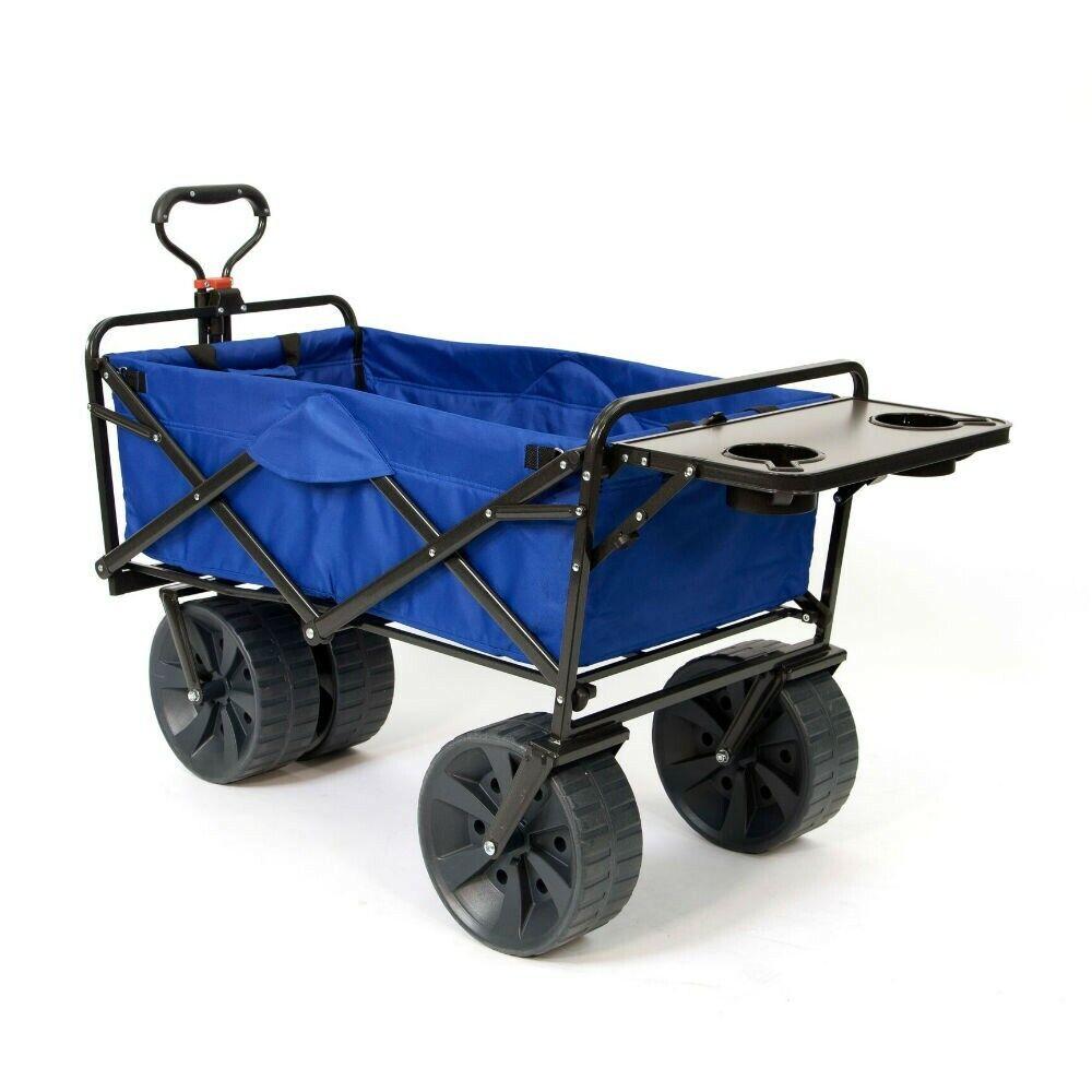 Mac Sports Collapsible Heavy Duty All Terrain Beach Wagon wi