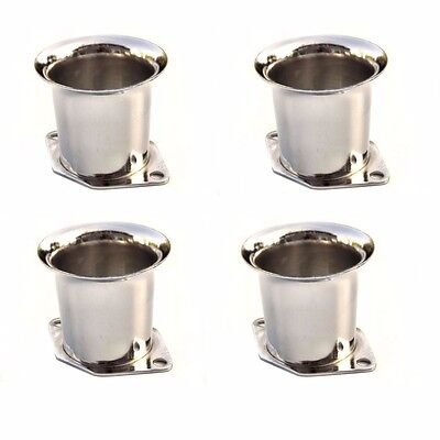 Set of 4 New Velocity Stacks Air Horn Pipe Trumpet Weber for 40/44/48 IDF
