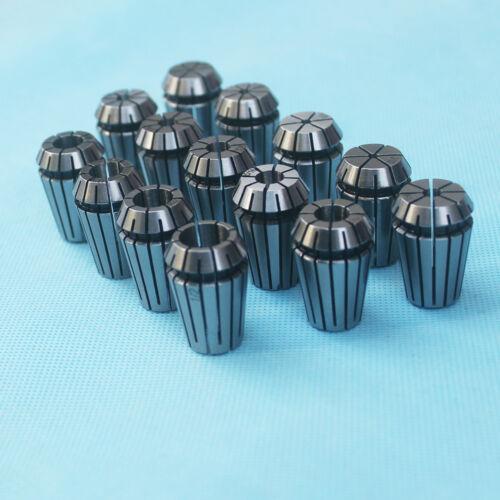 "NEW 14Pcs ER20 Spring Collet Set 1/16""-1/2"" CNC Super Precision 3/8 1/4 1/8"
