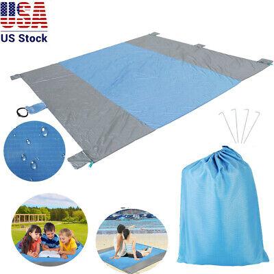 Sand Free Beach Mat Outdoor Picnic Blanket Rug Sandless Matt