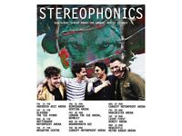 2X Stereophonics Good seating Concert tickets-Leeds First Direct Arena(Saturday 10th March)