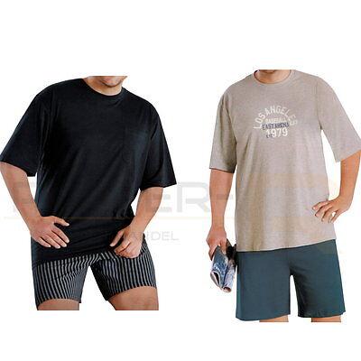 Herren Shorty Schlafanzug Pyjama Kurz in Gr XXL, 2XL, 3XL, 4XL, 5XL, XXXXXL