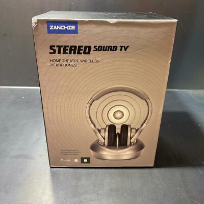 Zanchie TV002 Wireless RF Headphones for TV Watching 330ft Signal Range