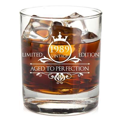 1989 30th Birthday Gift for men Gift ideas Whiskey Glass Anniversary gift dad (30 Birthday Ideas)