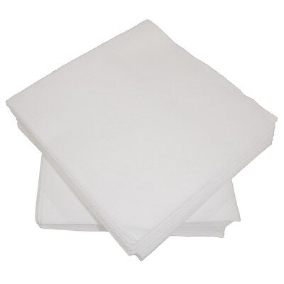 100 LUXURY WHITE AIRLAID PAPER NAPKINS/LINEN FEEL